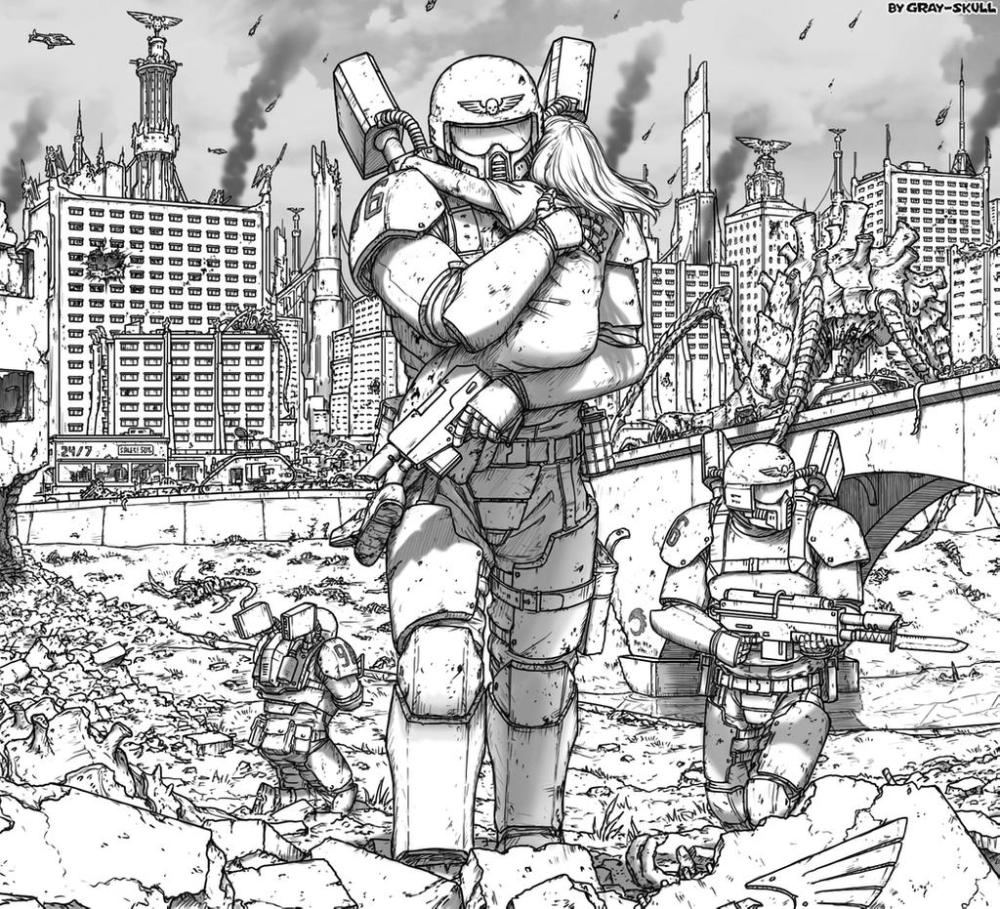 Not All Heroes Wear Power Armor By Gray Skull On Deviantart In 2020 Warhammer 40k Artwork Warhammer Warhammer 40k