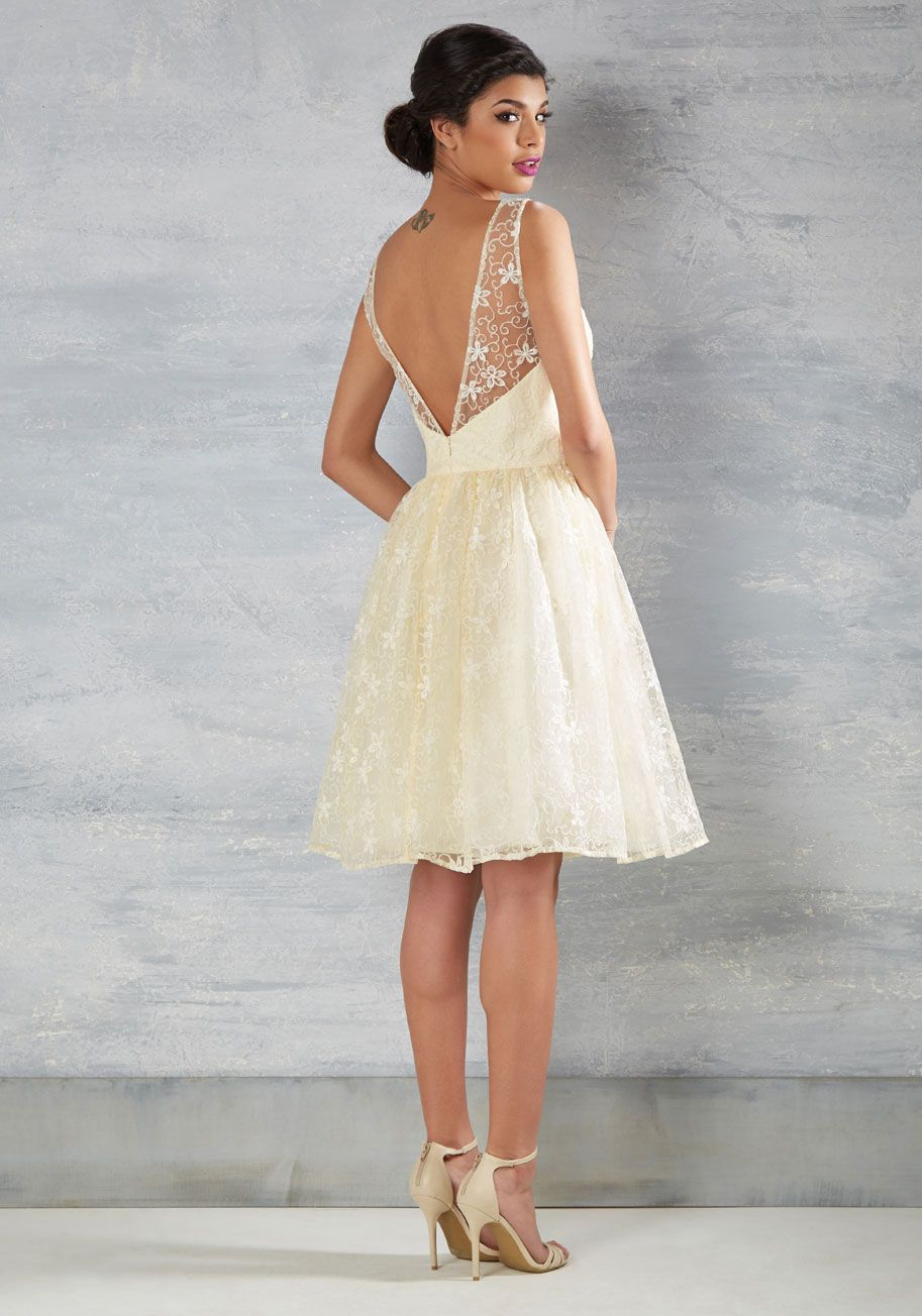 abdb8215d55 Making memories in this ivory fit and flare, you epitomize beauty and brio  like never