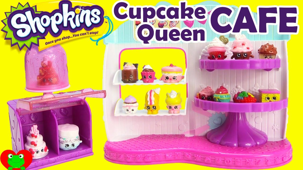 Sh shopkins coloring pages cupcake - Shopkins Cupcake Queen Cafe Season 4 Food Fair Playset With 2 Exclusives