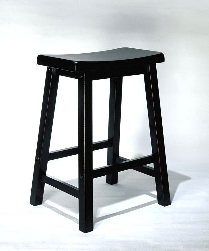 Powell Antique Black with Sand Through Terra Cotta Counter Stool