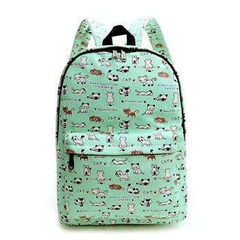 2016 Women Printing Backpack Canvas Flowers Animal Shoulder School Bag For Teenagers Girls Travel Bags Bolsas Mochilas
