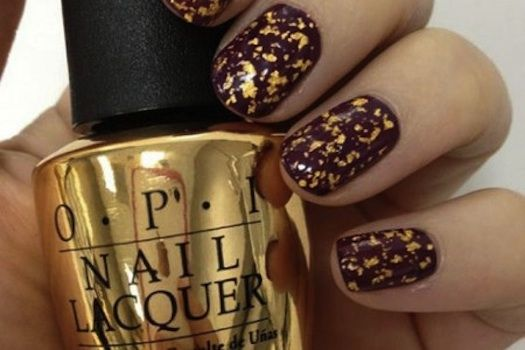 OPI 18K Gold Leaf (in honor of  James Bond/Goldfinger) -For lovers of 007 and accessories, this 18K gold leaf top coat may be just the thing.