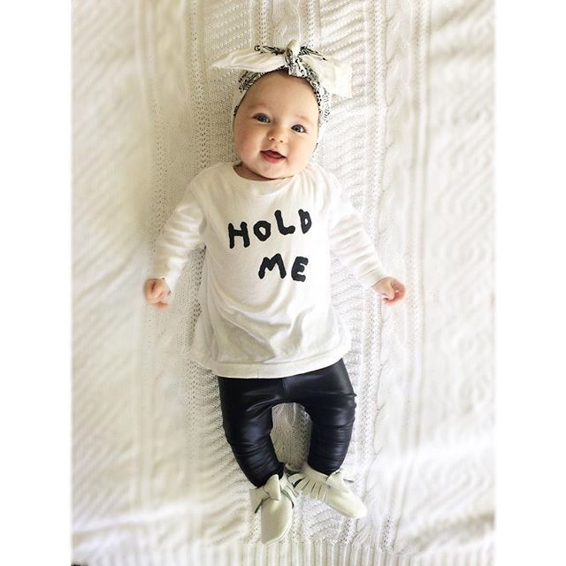 e7cc07b71 2016 baby girls clothes carters letter Pattern long sleeve t shirt + ...