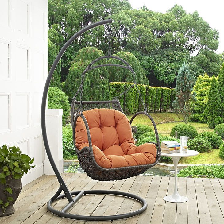 Harbor Outdoor Patio Wood Swing Chair
