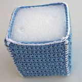 Crocheted Cover for a Square Box-Shaped Block  - could use to make crocheted houses, barns, etc for kids