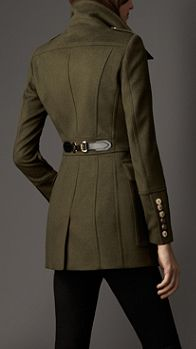 Buckle Detail Wool Cashmere Coat | Burberry