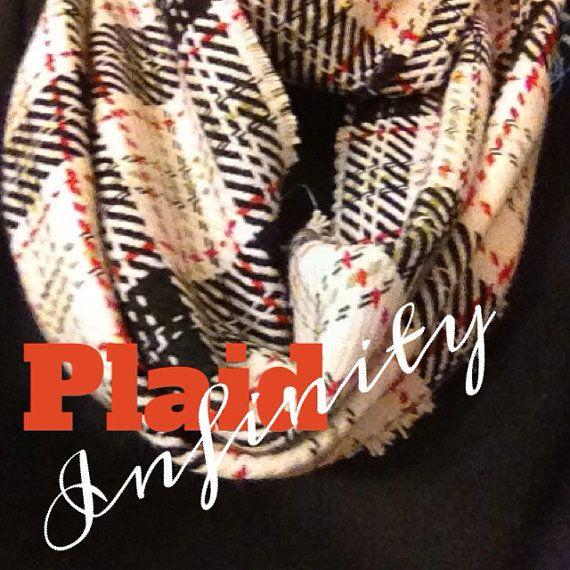 Plaid infinity scarf  by Baileywicks on Etsy, $38.00