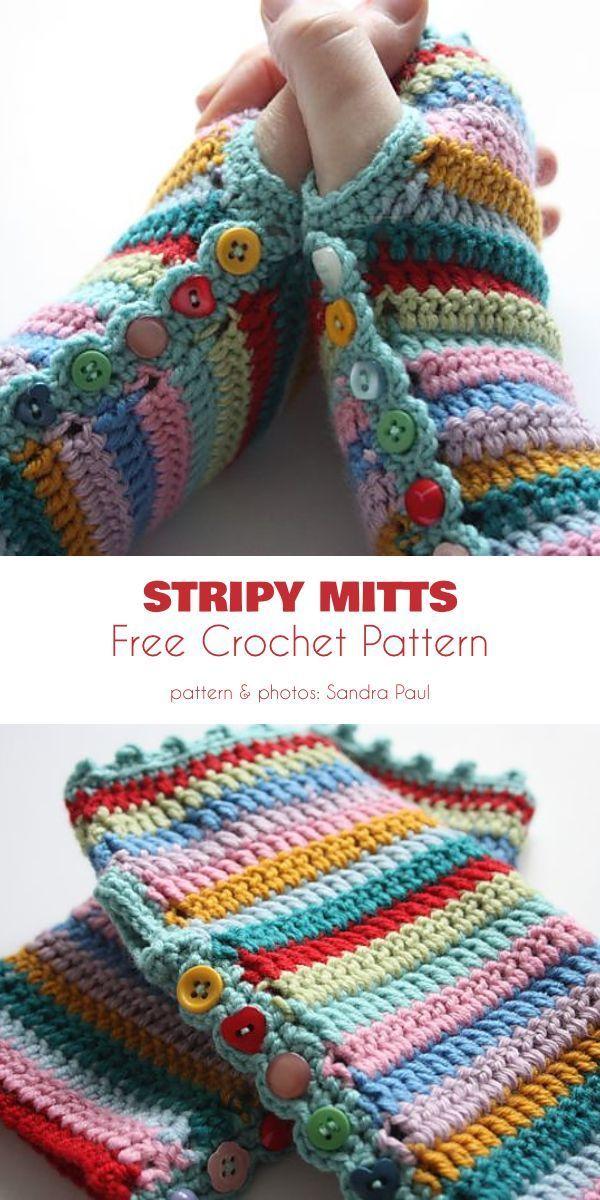 Mitaines sans doigts Patrons de crochet gratuits #amigurumi #crochet #knitting #amigurumi …   – Gelinlik