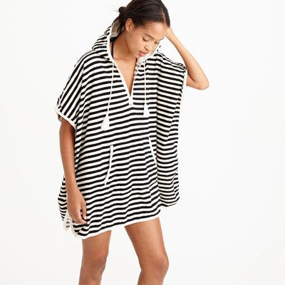 1e8321e28a5f1 This black-and-white striped terry cloth cover up is a stylish alternative  to a towel