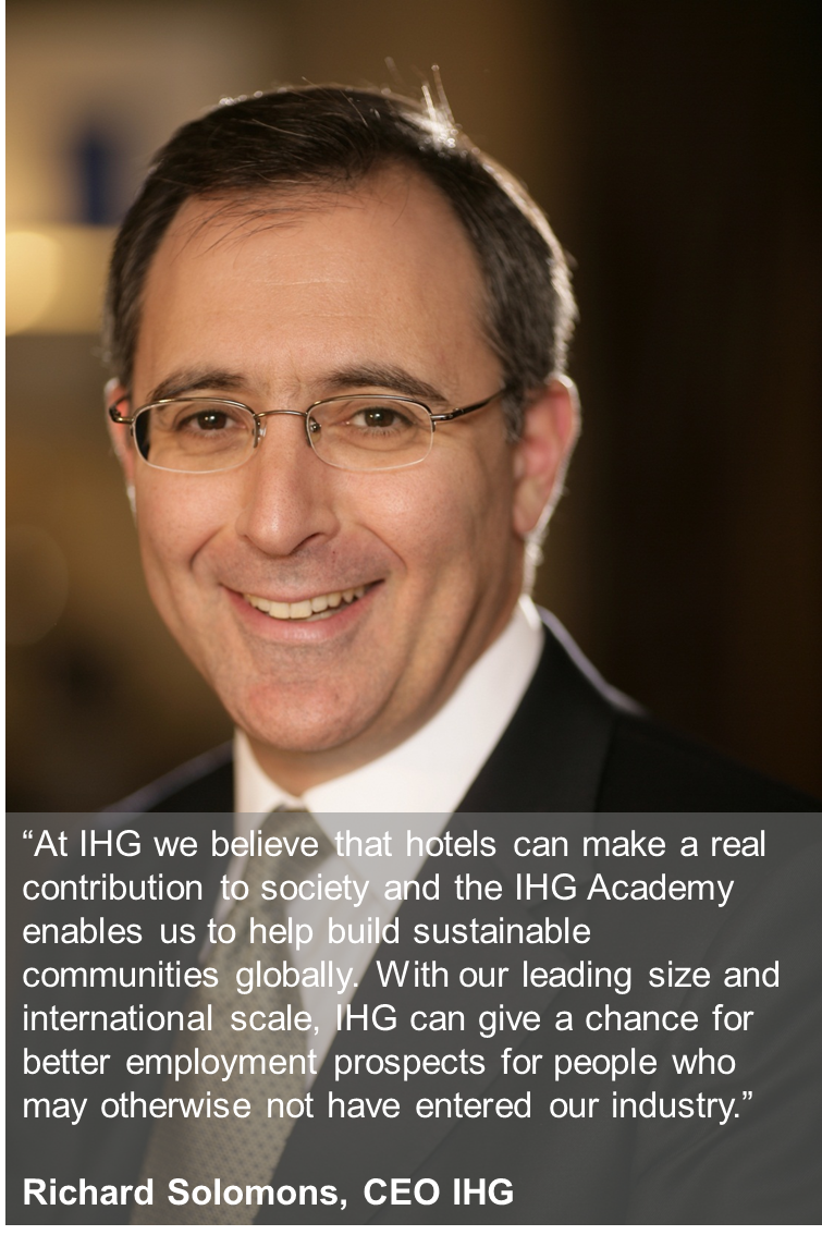 Quote From Richard Solomons Ceo Of Intercontinental Hotels Group Following The Launch 150th Ihg Academy
