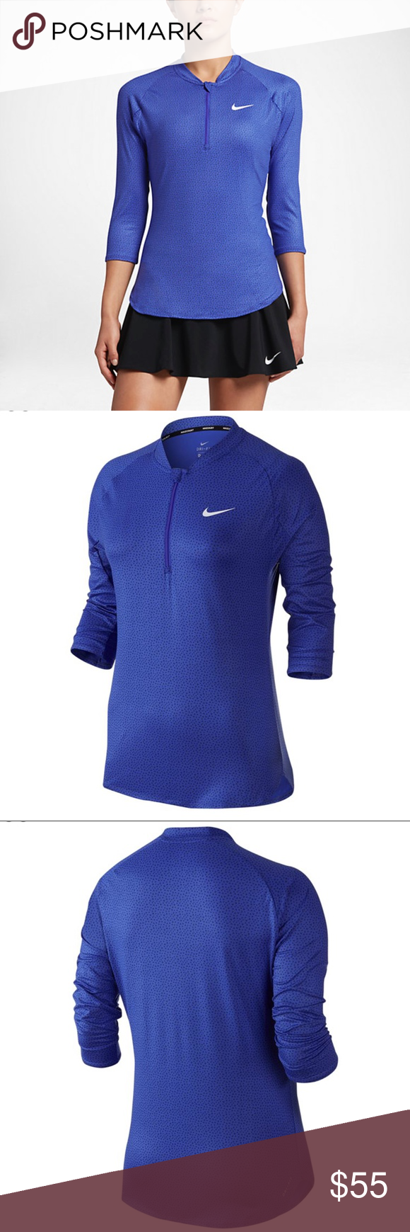 Nike womenus sleeve drifit tennis top nwt tennis tops and tennis