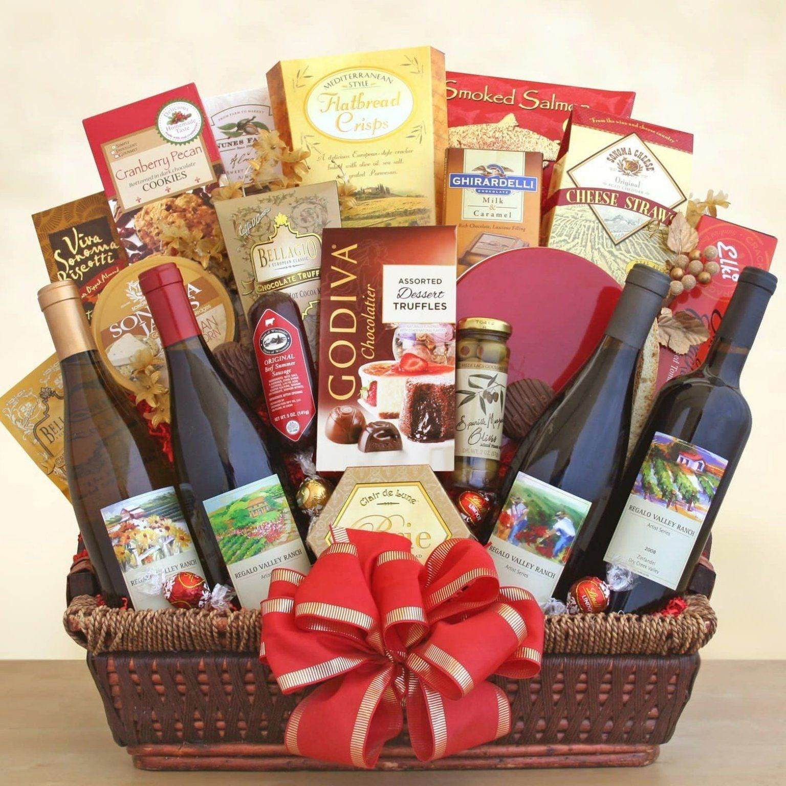 California Ultimate Gourmet Wine Gift Basket Gift Diy Gift Recommendations For Friends Special Day In 2020 Gourmet Gift Baskets Wine Gift Baskets Wine Gifts