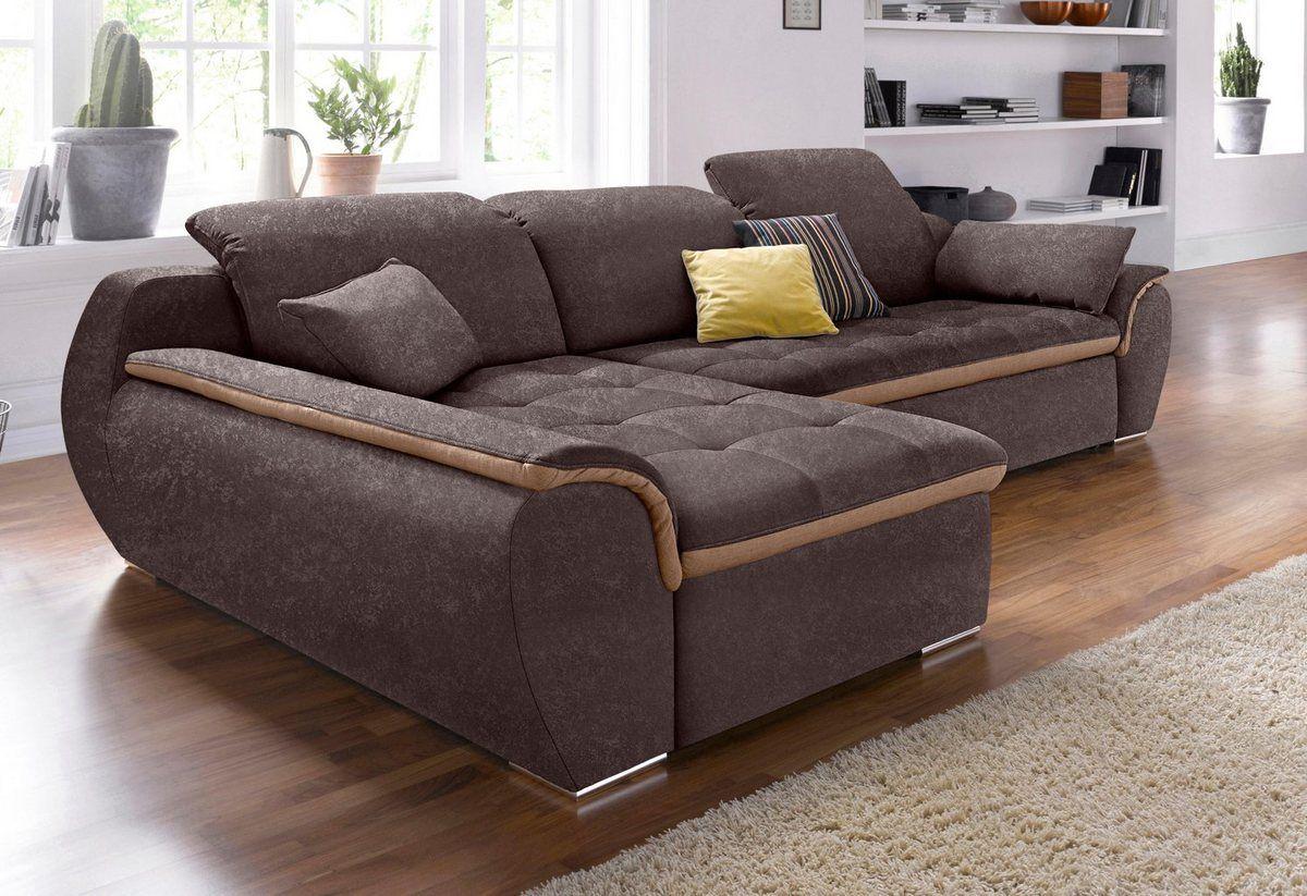 Ecksofa Wahlweise Mit Bettfunktion Living Room Sofa Design