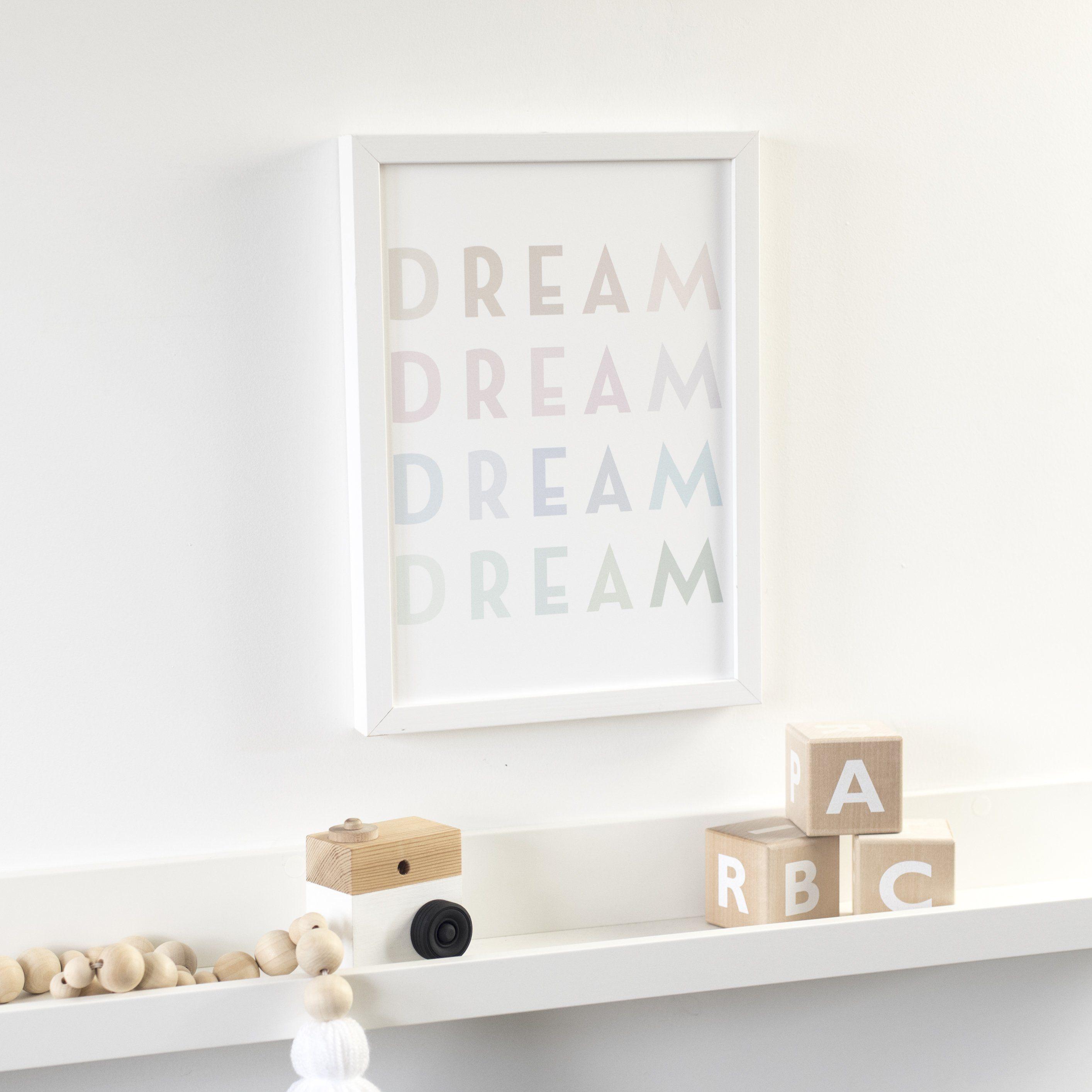 Photo of Pastel Dream Nursery Print – A4 unframed