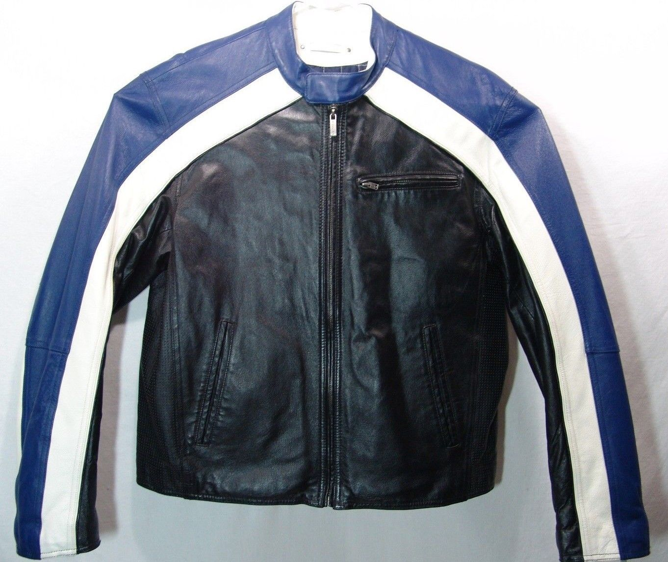 WILSONS LEATHER M JULIAN CAFE RACER MOTO MOTORCYCLE JACKET