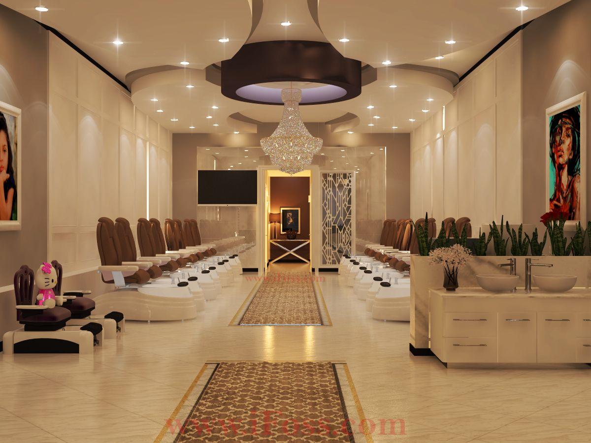 Design For Nail Salon Pedicure Area Decor Design By Ifoss Nail Salon Interior Design Salon Interior Design Nail Salon Design