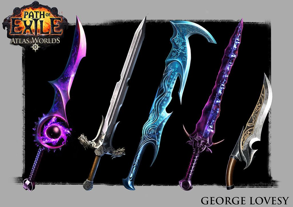 Path of Exile Swords by GeorgeLovesyArt   Weapons   Sword