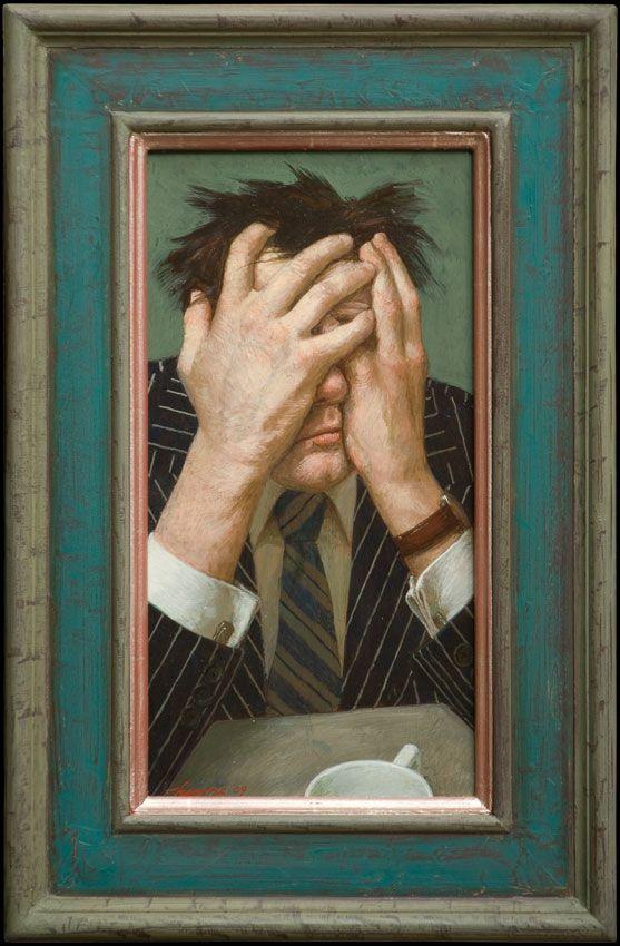 Kenne Gregoire Broker Acryl Op Paneel 2009 Artist Portrait