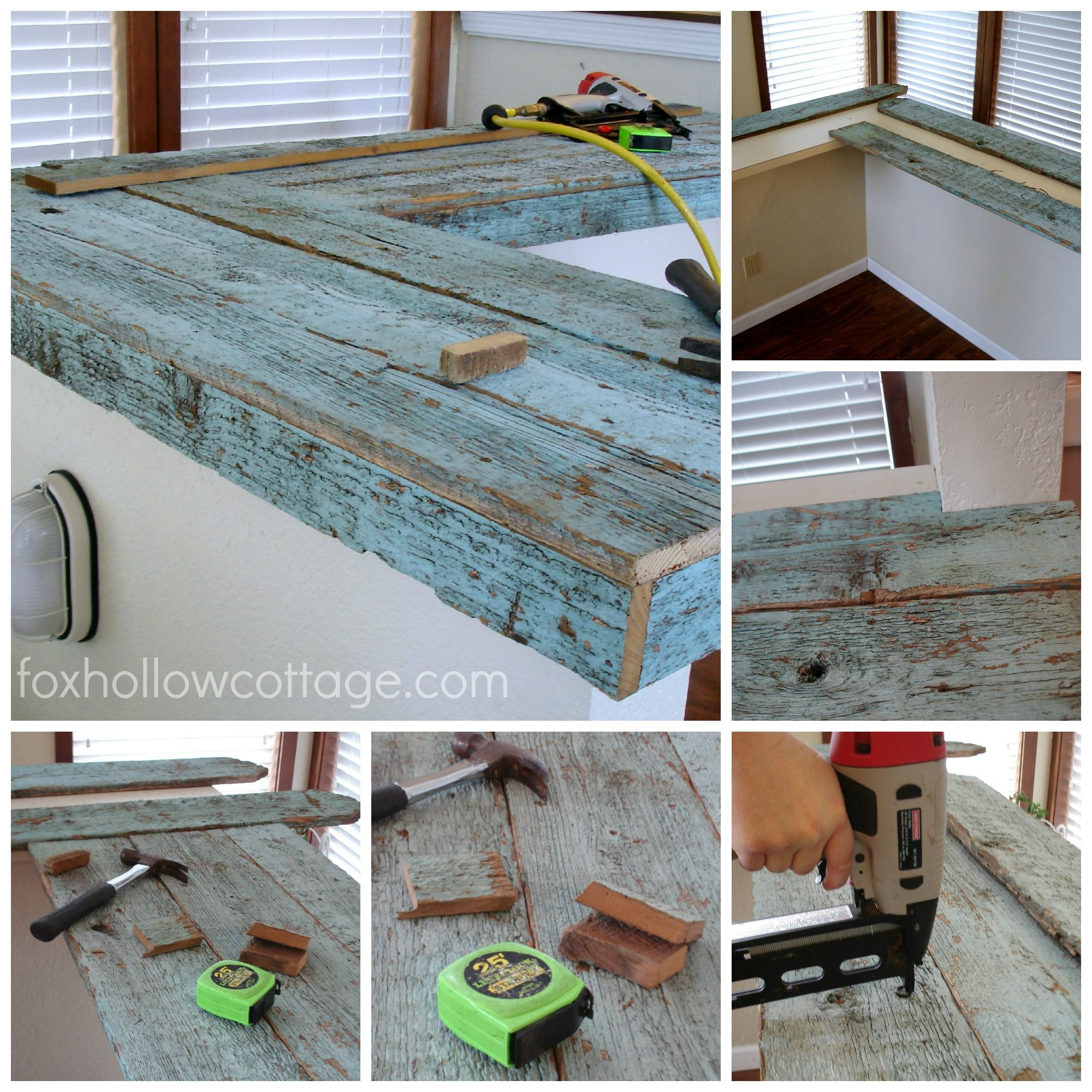 How To Make A Wood Fence Board Countertop | Pinterest | Fence boards ...