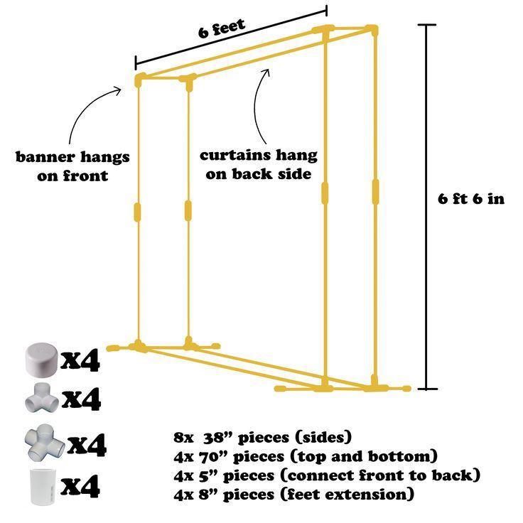 DIY PVC Hintergrund Rahmen   - Unbedingt kaufen - #diy #Hintergrund #Kaufen #PVC #Rahmen #unbedingt #pvcpipebackdrop