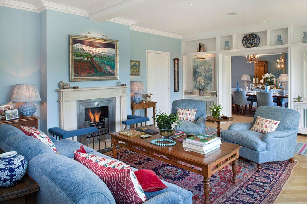 New Trend For Blue Living Room4