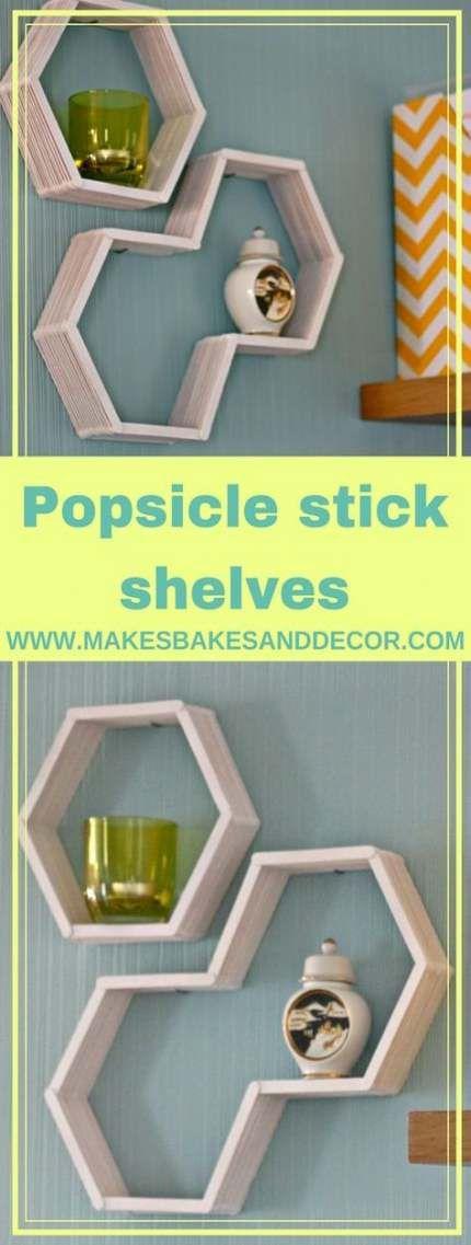 52+ Ideas Diy Shelves Popsicle Sticks -   22 diy Shelves popsicle sticks ideas