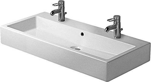 Duravit Waschbecken Vero Breite 100cm 2 Hahnlocher Weiss 454100024 Amazon De Kuche Haushalt Duravit Waschbecken Waschtisch Waschbecken Armaturen