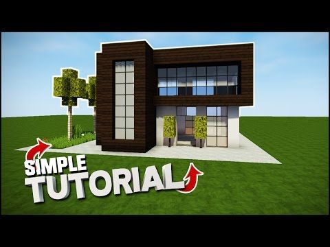 Minecraft How to build a Simple Modern House. Teaching you how to ...
