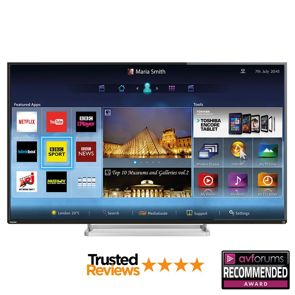 Costco UK Toshiba 55L7453DB 55 inch Smart LED 3D TV 3d