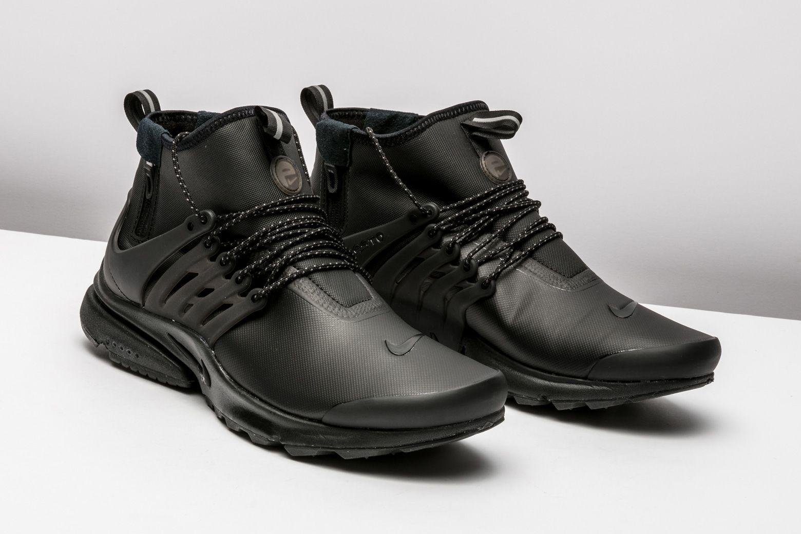 Nike Air Presto Mid Utility 859524 003 Nike Air Presto Air Presto All Black Sneakers