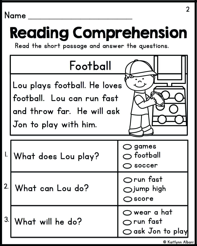 Kindergarten Reading Worksheets Free In
