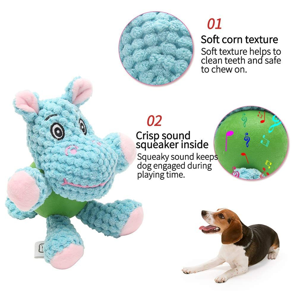 Eetoys Squeaky Plush Dog Toy Durable Small Dog Toys Low Stuffing