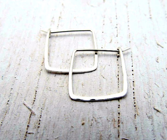 a1cb9a939 small square hoop earrings 3/4