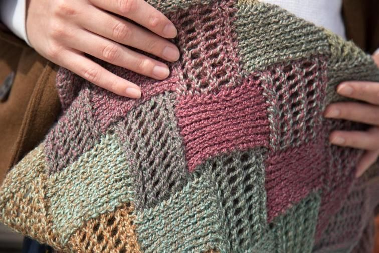 Entrelac Boho Scarf | Craftsy | Knitting | Pinterest
