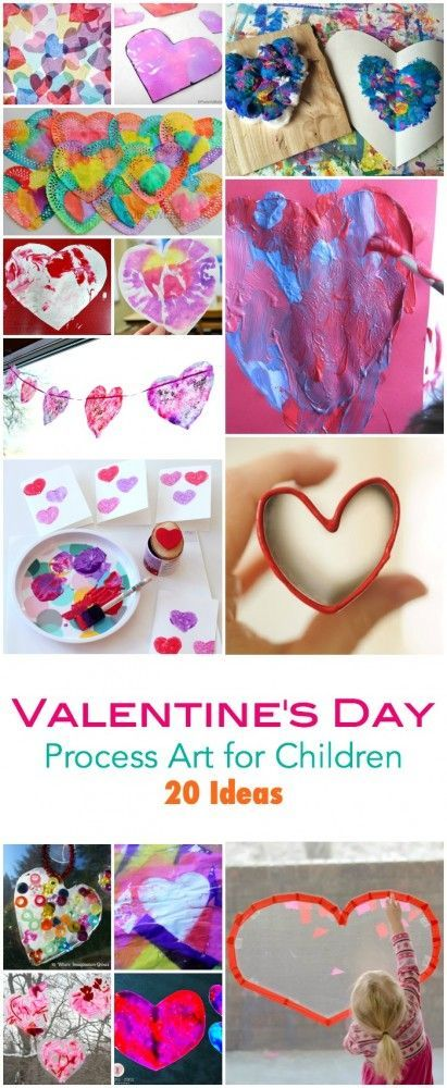 20 Valentines Day Process Art Ideas for Children For Children who