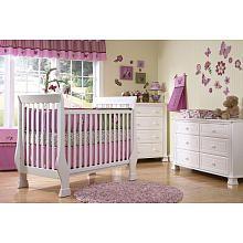 Baby Cache Essentials Flat Lifetime Crib White Baby Cache