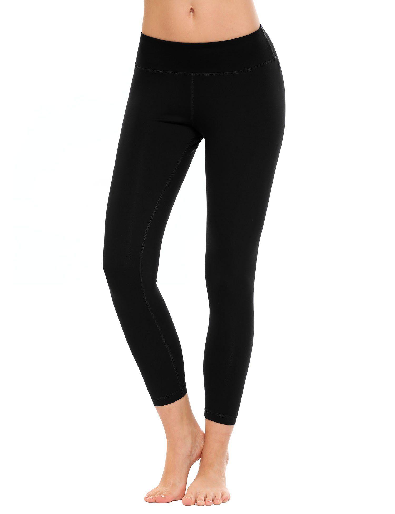 ebc82f52c53312 Ekouaer Women's Yoga Capris High Waist Tummy Control Shapewear Pants  Leggings. Good Fabric--