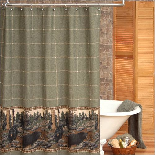 Marvelous Rustic Cabin Style Shower Curtains | Click Here To View Additional Imagesu0026  Close Ups ~