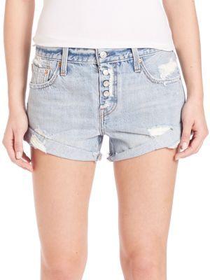 61c21b33 Levi's - Distressed Custom Rolled Hem Denim Shorts $48 | My Style ...