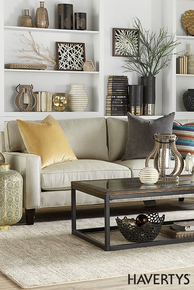 Pin By Havertys Furniture On Havertys Design School Livingroom Layout Home Living Room Home Decor [ 1100 x 735 Pixel ]