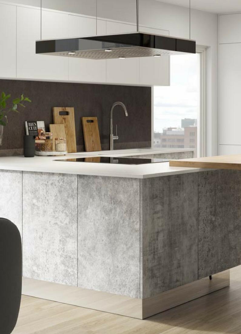 Betonkuchen 5 ideen und inspirierende bilder fur deine for Küche betonoptik