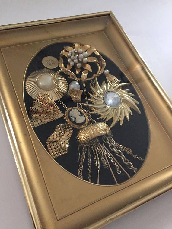 Jewelry Wall Art Jewelry Framed Wall Art Jewelry Wall Decor Jewelry Frames Jewelry Wall Tiffany Glass Art
