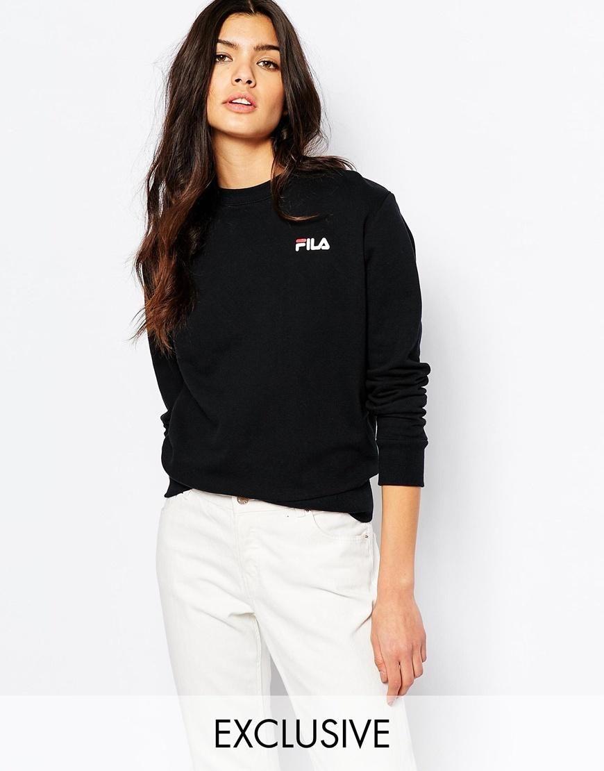 b23ba4ba Fila | Fila Oversized Boyfriend Sweatshirt With Small Logo at ASOS ...
