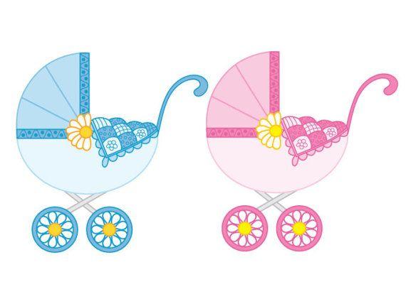item baby stroller clipart digital vector stroller baby boy rh pinterest com baby stroller clipart free stroller clipart black and white