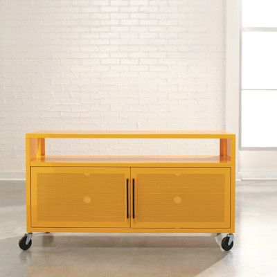 Sauder Soft Modern 44 Tv Stand Allmodern Palette Play Mustard