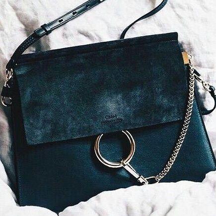 ca9010287f Navy blue suede Chloe bag. #bagoftheday #baglover #chloe #chloebag ...