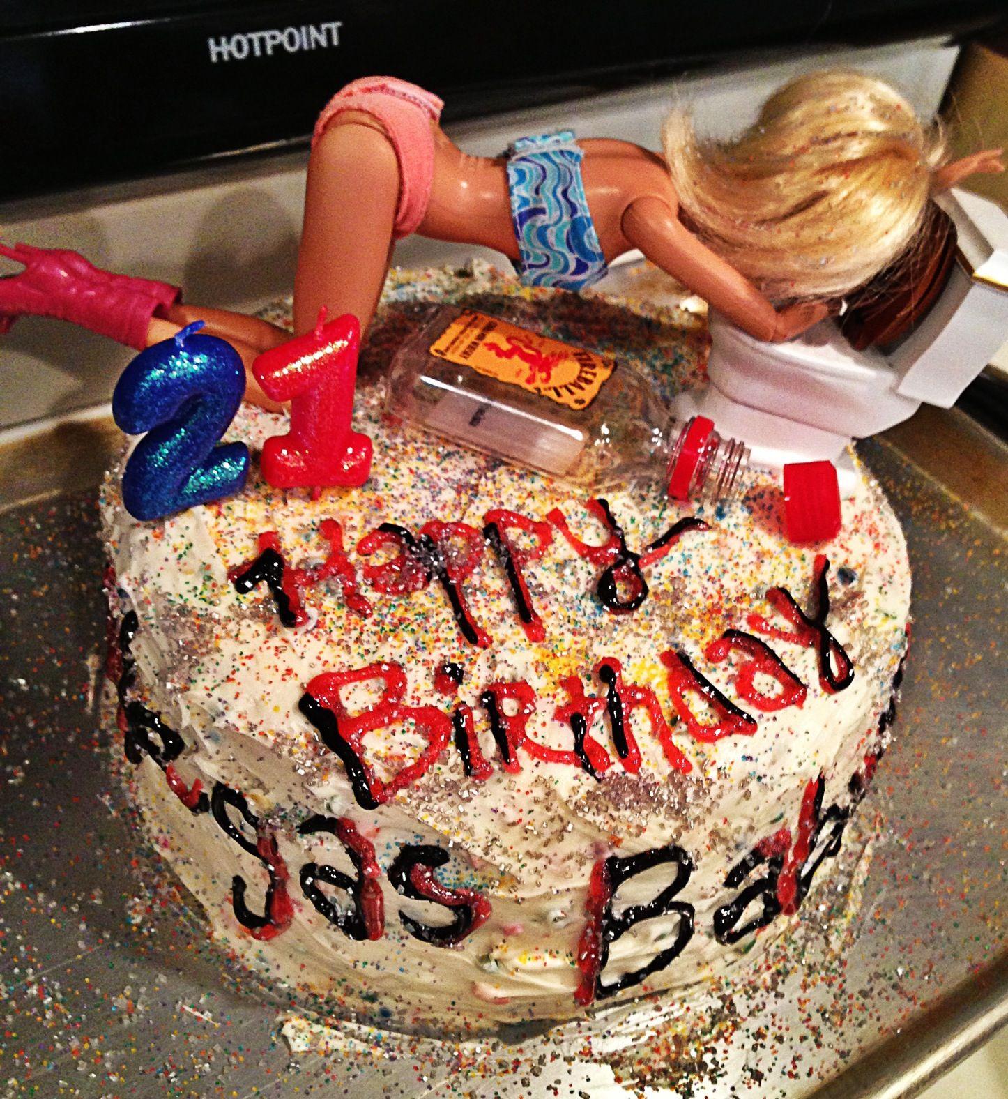 My Little Sisters 21st Birthday Cake! @VictoriaSacksteder