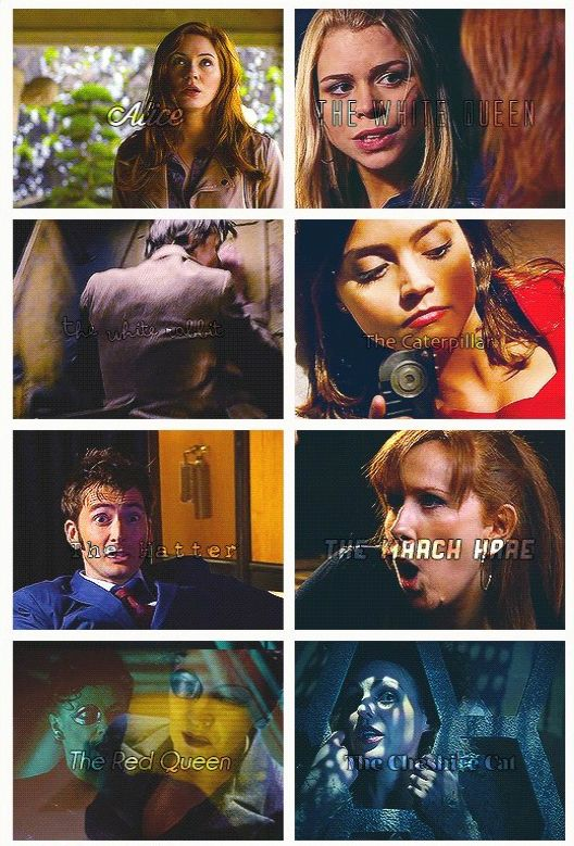 Gif The Cast Of Doctor Who As Alices Adventures In -9228
