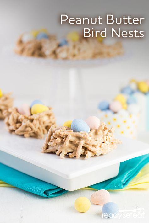 peanut butter bird's nests  recipe  peanut butter bird