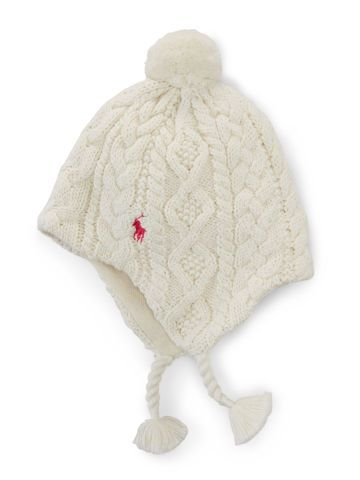 Baby Girl Cotton Earflap Hat - Baby Girl Accessories - Ralph Lauren ... c4c709a8175